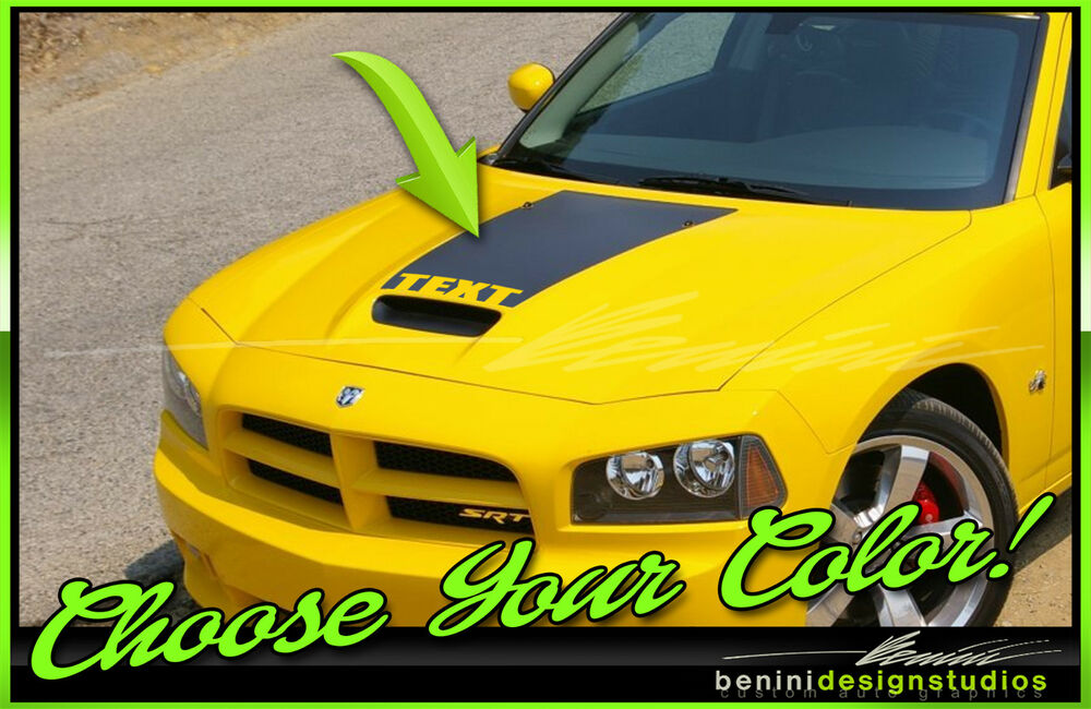 2006 07 08 09 2010 Dodge Charger Hood Stripe Decal Custom