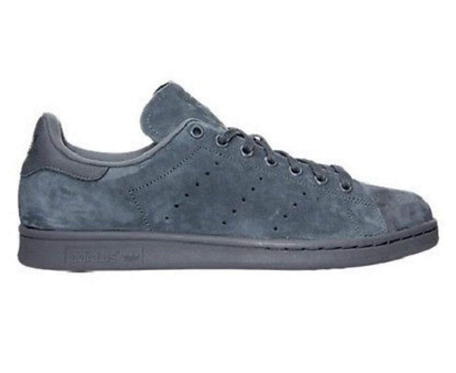 abbb64e484251 Adidas Original classic Stan Smith Suede Onyx   gray mens sneaker SHOES new