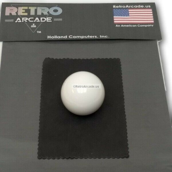 replacement white 2 inch ball for trackball ra track ball. Black Bedroom Furniture Sets. Home Design Ideas