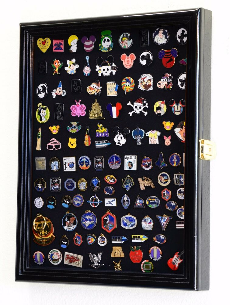 Lapel Pin Display Case Cabinet Shadow Box Frame Disney