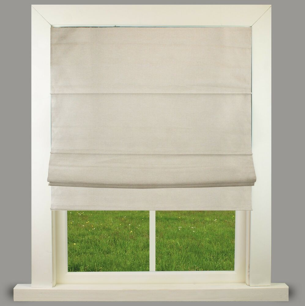 natural weave lined roman blind with fittings great. Black Bedroom Furniture Sets. Home Design Ideas