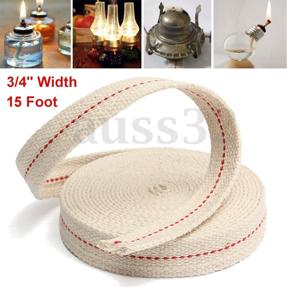 3 4 Quot White Flat Cotton Oil Lamp Wick 15foot Roll For Oil