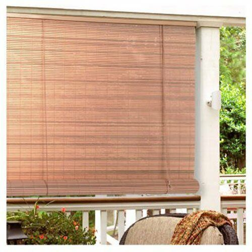 Window roll up shades outdoor porch patio pvc blinds deck for Screen porch window treatments