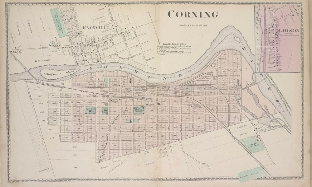 1873 Steuben County Corning New York Gibson Knoxville Copy Plat