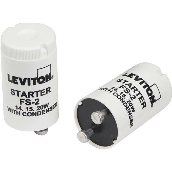 50 Pk Leviton 14W, 15W, 20W T8 FS-2 Fluorescent Light