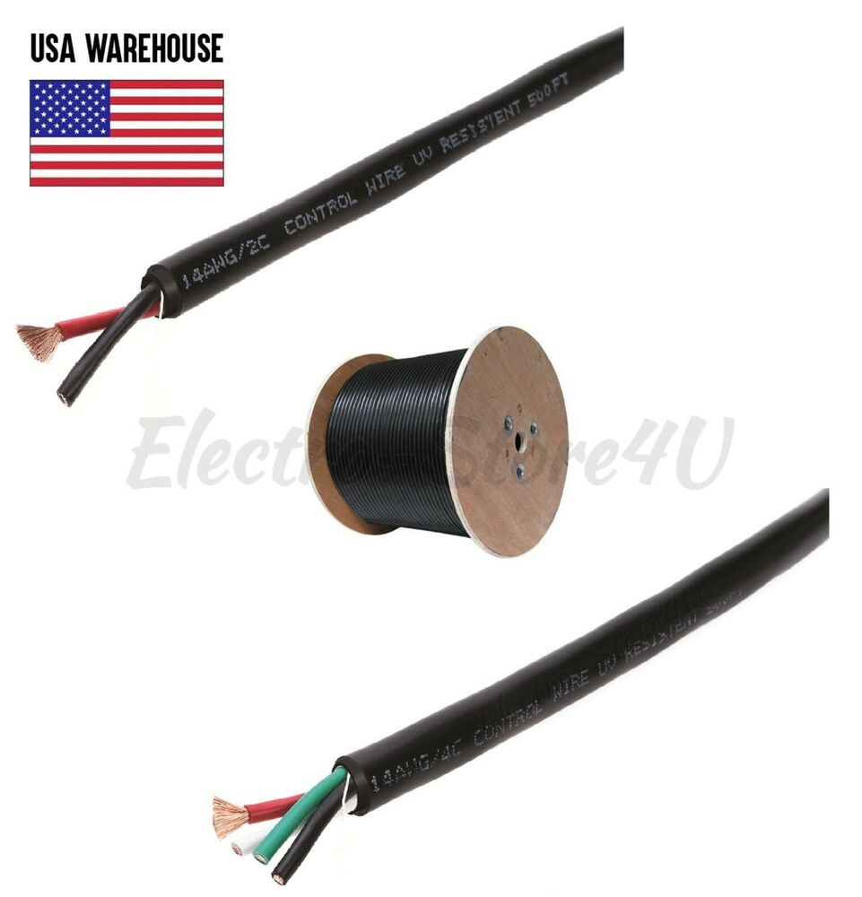 speaker wire cable 250ft 500ft outdoor uv audio cl2 bulk gauge 14 16 awg lot ebay. Black Bedroom Furniture Sets. Home Design Ideas