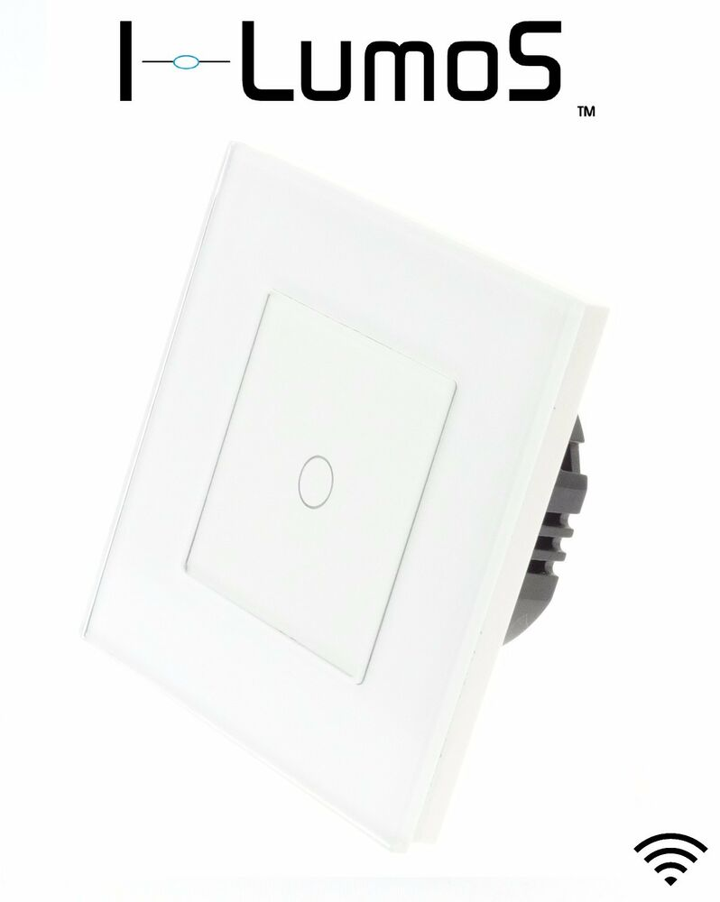 i lumos modern white glass frame touch  dimmer  remote