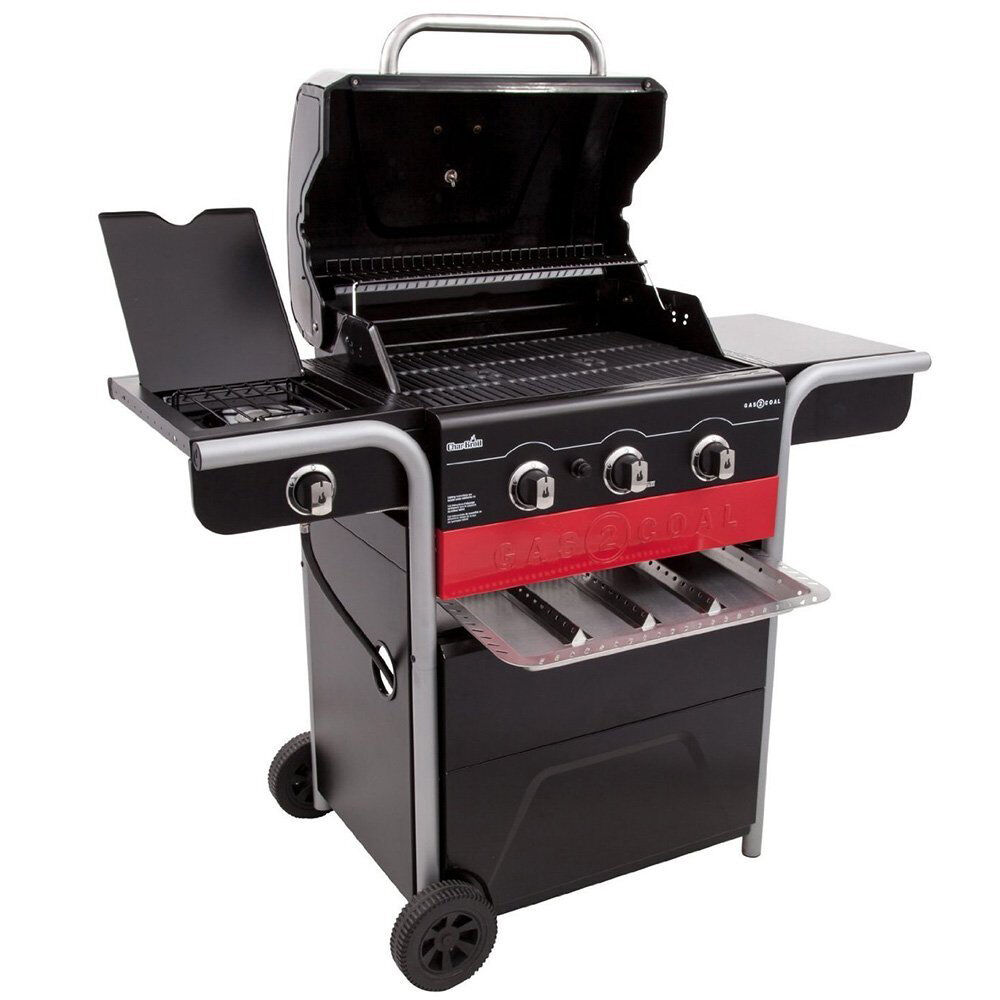 Details About Char Broil Gas2coal 3 Burner Gas And Charcoal Combination Hybrid Barbecue Grill