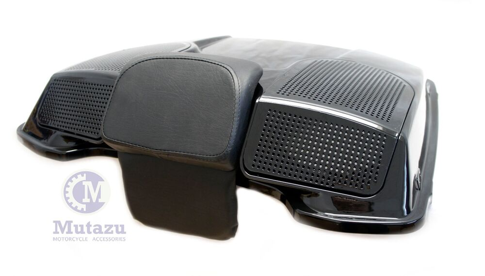 Mutazu Vivid Black Dual 6x9 Speaker Lid For Harley Razor