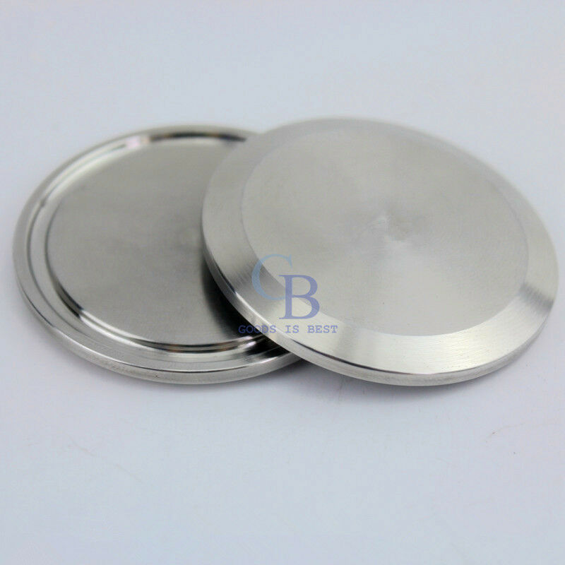 Stainless steel sanitary end cap for quot tri clamp od mm