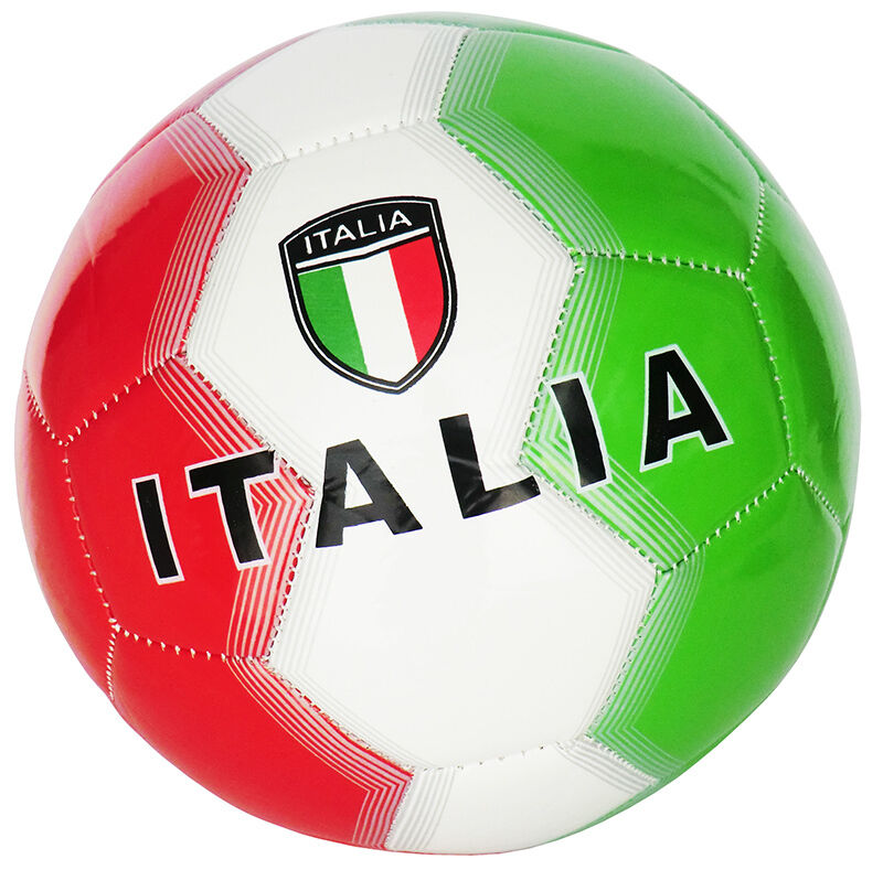 ballon de foot italie taille 5 couleur vert blanc rouge id e cadeau ebay. Black Bedroom Furniture Sets. Home Design Ideas