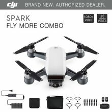 DJI Spark Fly More Combo - Alpine White Quadcopter Drone - 12MP 1080p Video
