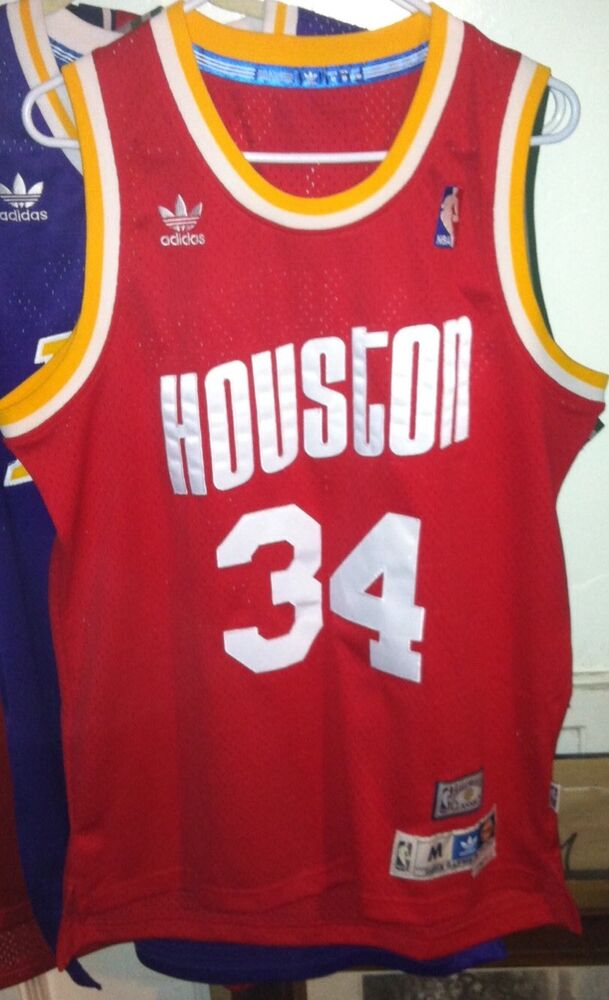 Hakeem Olajuwon Adidas HWC NBA Houston Rockets Jersey Men M Sewn Harden  Soul  f2be5a558