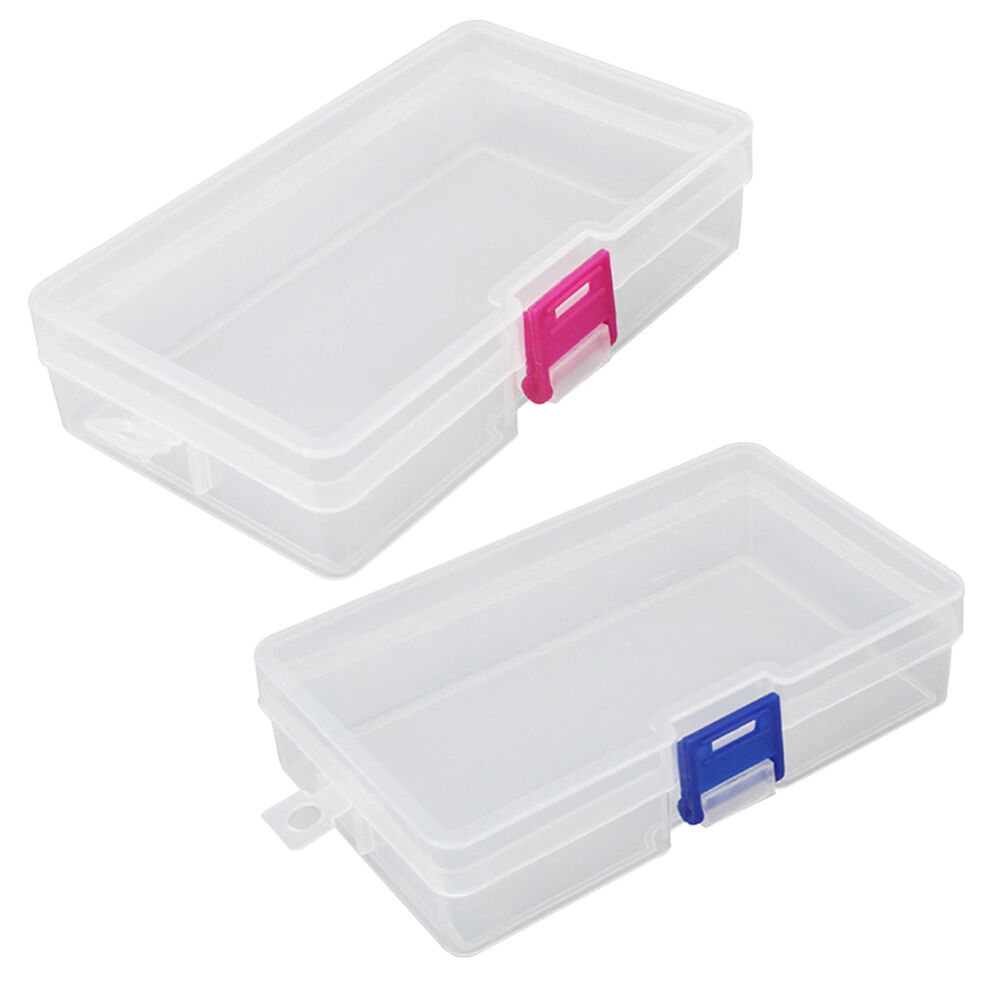 Plastic clear storage box craft nail arts beads jewelry for Craft storage boxes plastic