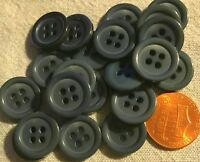 "24 NEW Shiny Very Very Dark Teal Green Plastic Buttons 5/8"" 15MM Lot # 702"