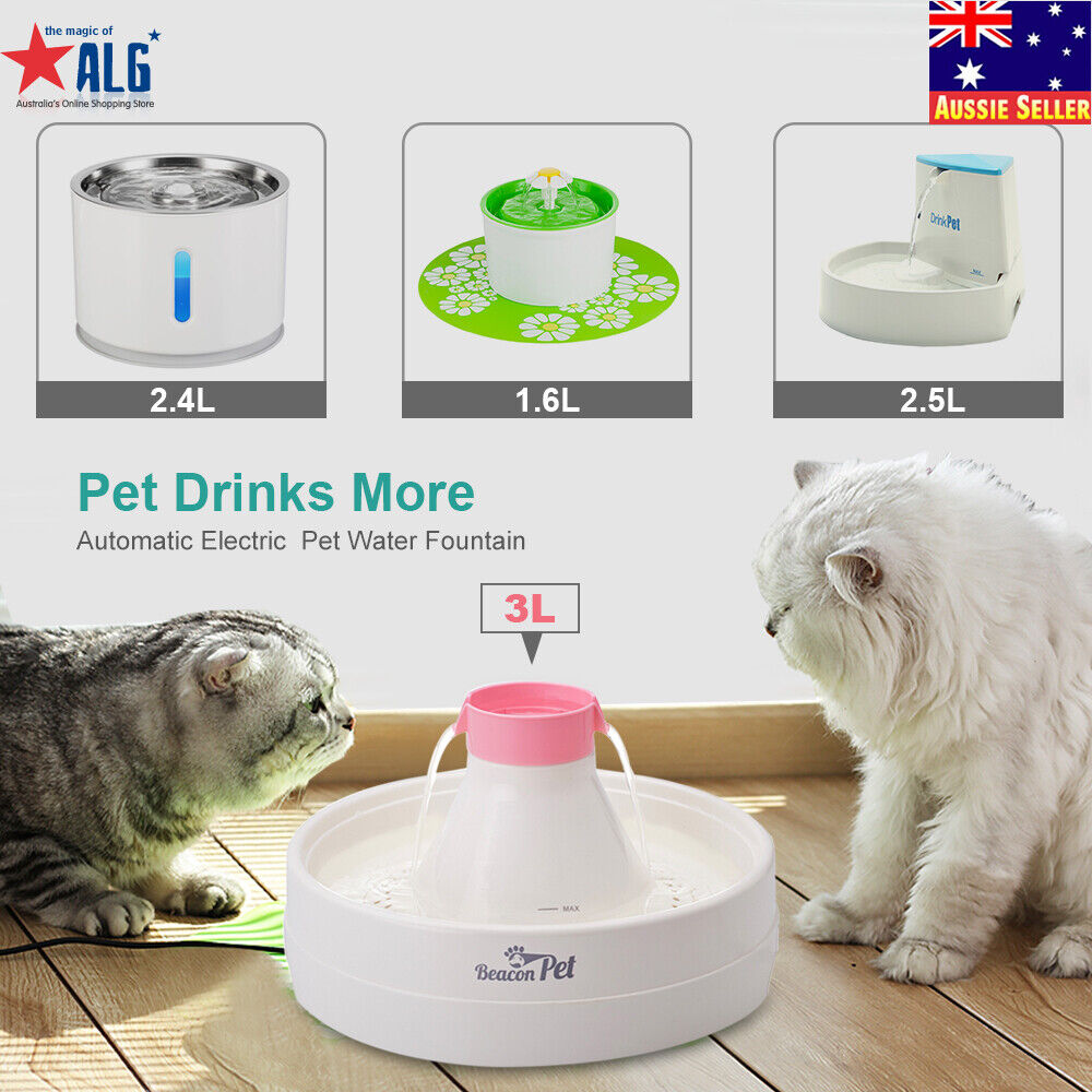 automatic electric pet water fountain dog cat drinking. Black Bedroom Furniture Sets. Home Design Ideas
