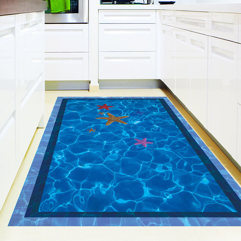 pool bathroom flooring 3d swimming pool large wall stickers home decor bathroom 14009