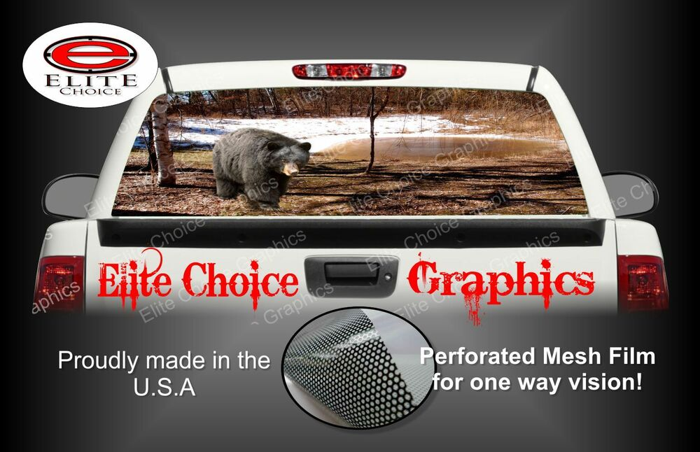 Graphics For Black Bear Rear Window Graphics Wwwgraphicsbuzzcom - Rear window hunting decals for trucksduck hunting rear window graphics best wind wallpaper hd