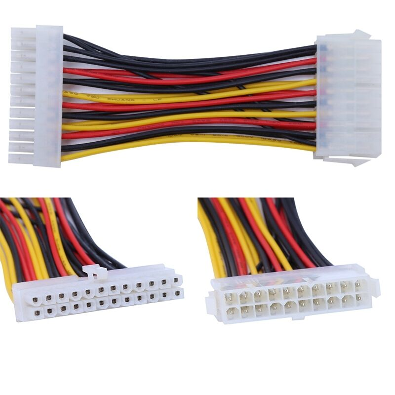 20 pin to 24 pin connector adapter 14cm cable for atx psu. Black Bedroom Furniture Sets. Home Design Ideas
