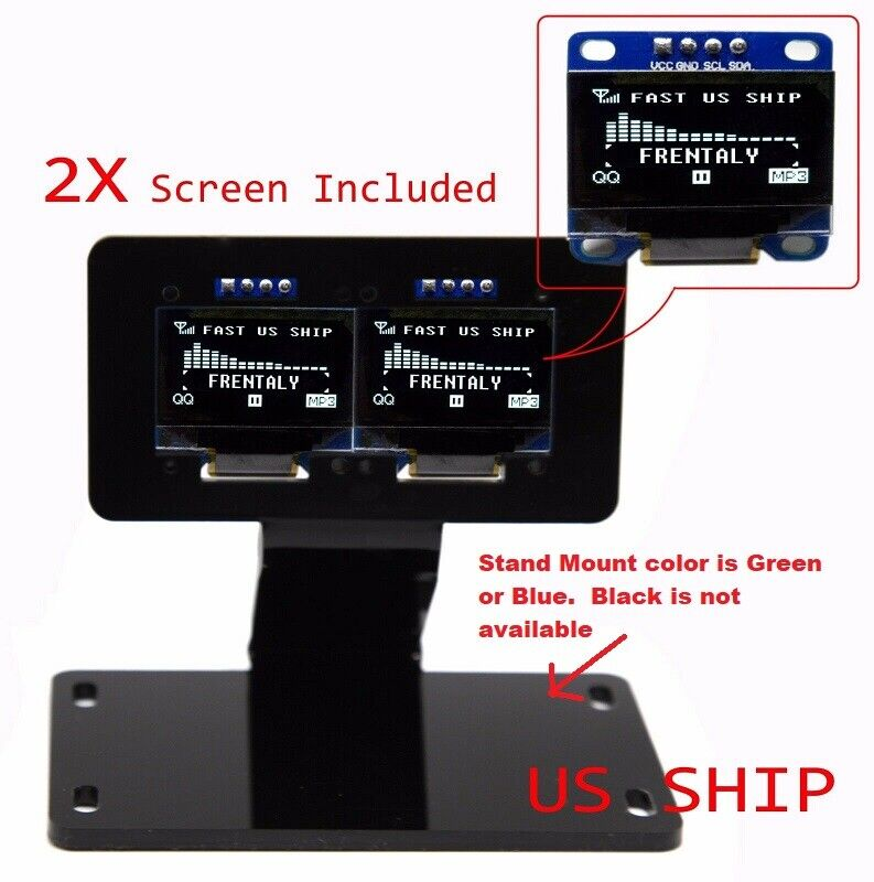 2x i2c iic serial 128x64 led oled lcd display stand mount for arduino ebay. Black Bedroom Furniture Sets. Home Design Ideas