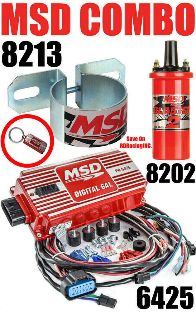Msd 6al Ignition Kit Digital Box 6425 Blaster 2 Coil 8202