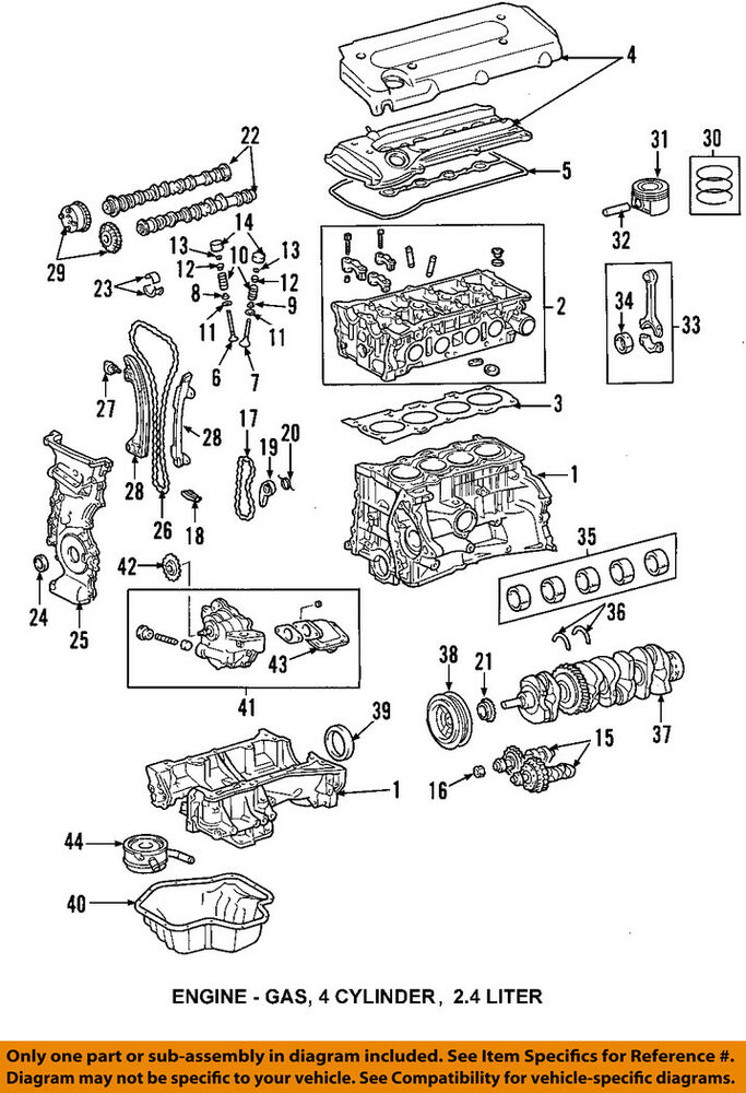 toyota 2.7 timing chain marks