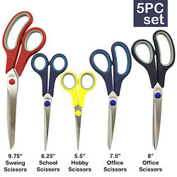 Kyпить 5 PIECE STAINLESS STEEL COMFORT GRIP SCISSORS SET Sewing Dress Hobby на еВаy.соm