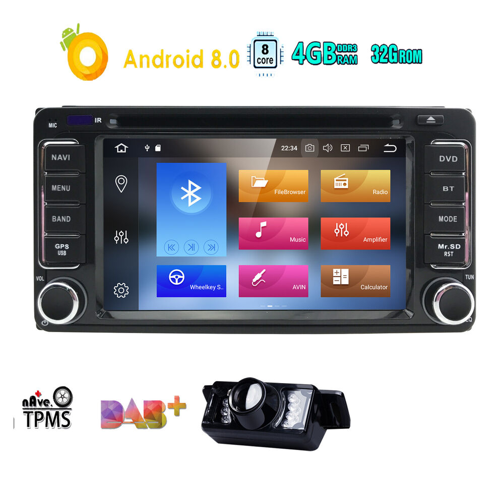 Android 7.1 Quad Core for Toyota Wifi 4G Stereo Car DVD Player GPS ...