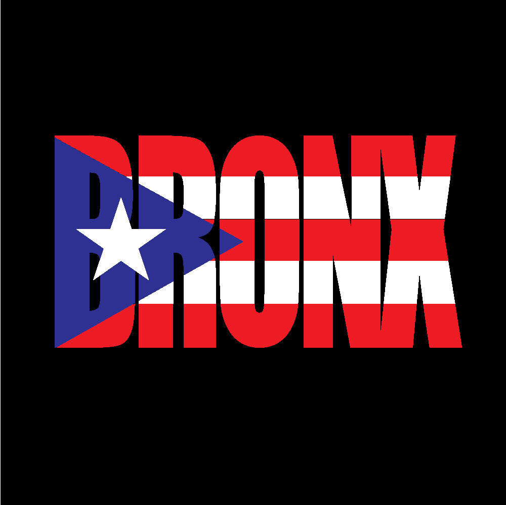 Details about puerto rico car decal sticker bronx letters with flag 138