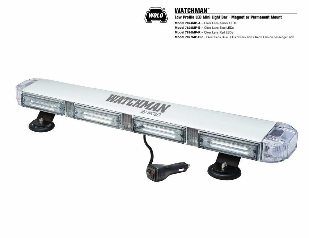 wolo lighting. WOLO 7824A WATCHMAN Low Profile LED Roof Mount Light Bar MAGNET/PERMANENT MOUNT | EBay Wolo Lighting I