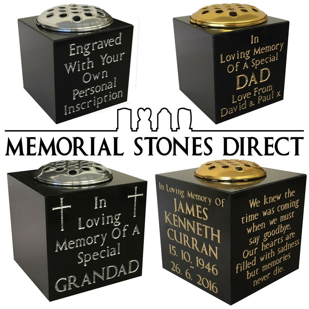 4 sizes personalised granite memorial vase grave stone 4 sizes personalised granite memorial vase grave stone headstone cemetery ebay reviewsmspy