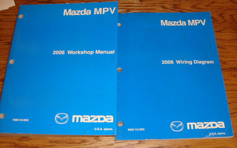 Original 2006 Mazda Mpv Van Shop Service Manual   Wiring
