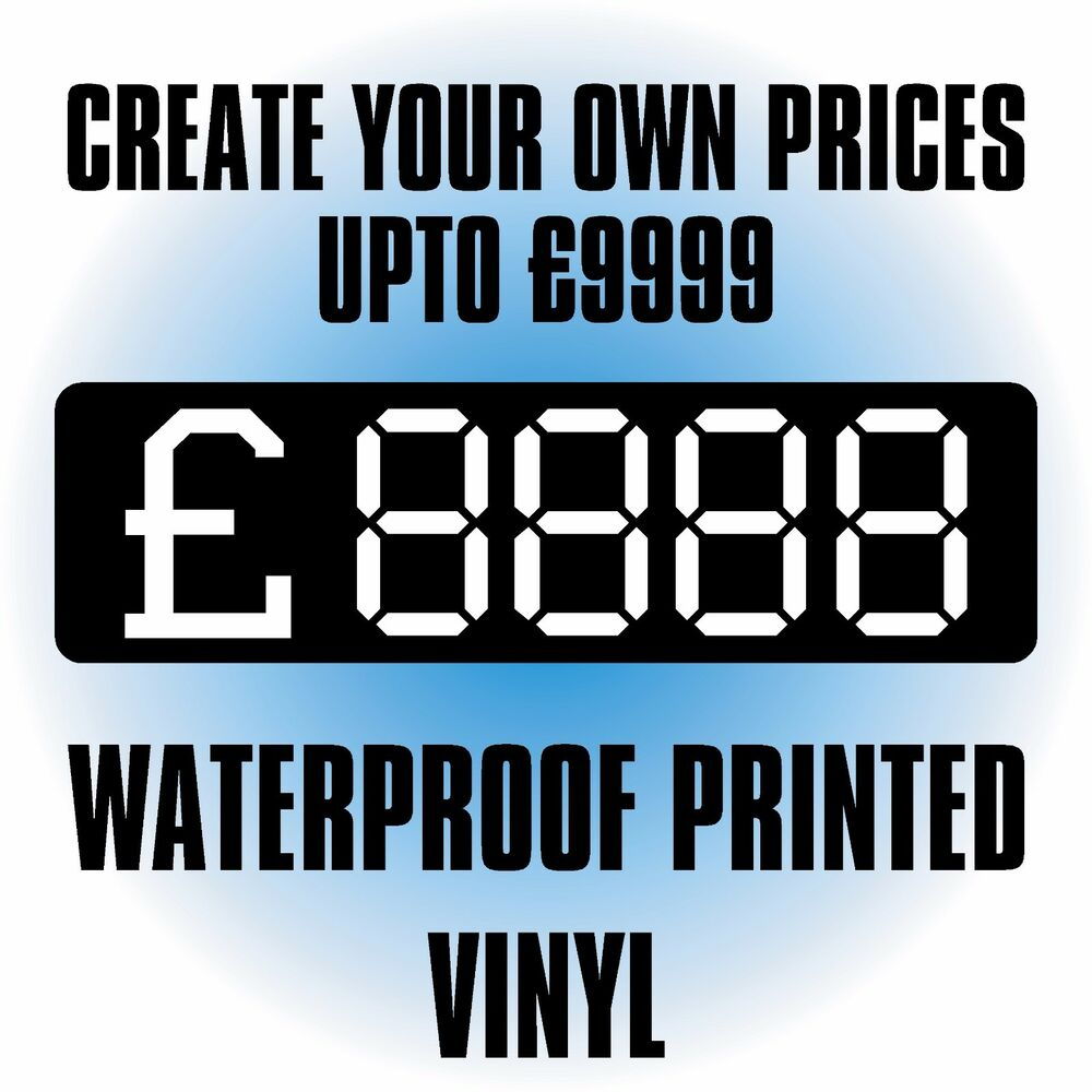 Details about create your own price stickers upto £9999 vinyl s a waterproof labels