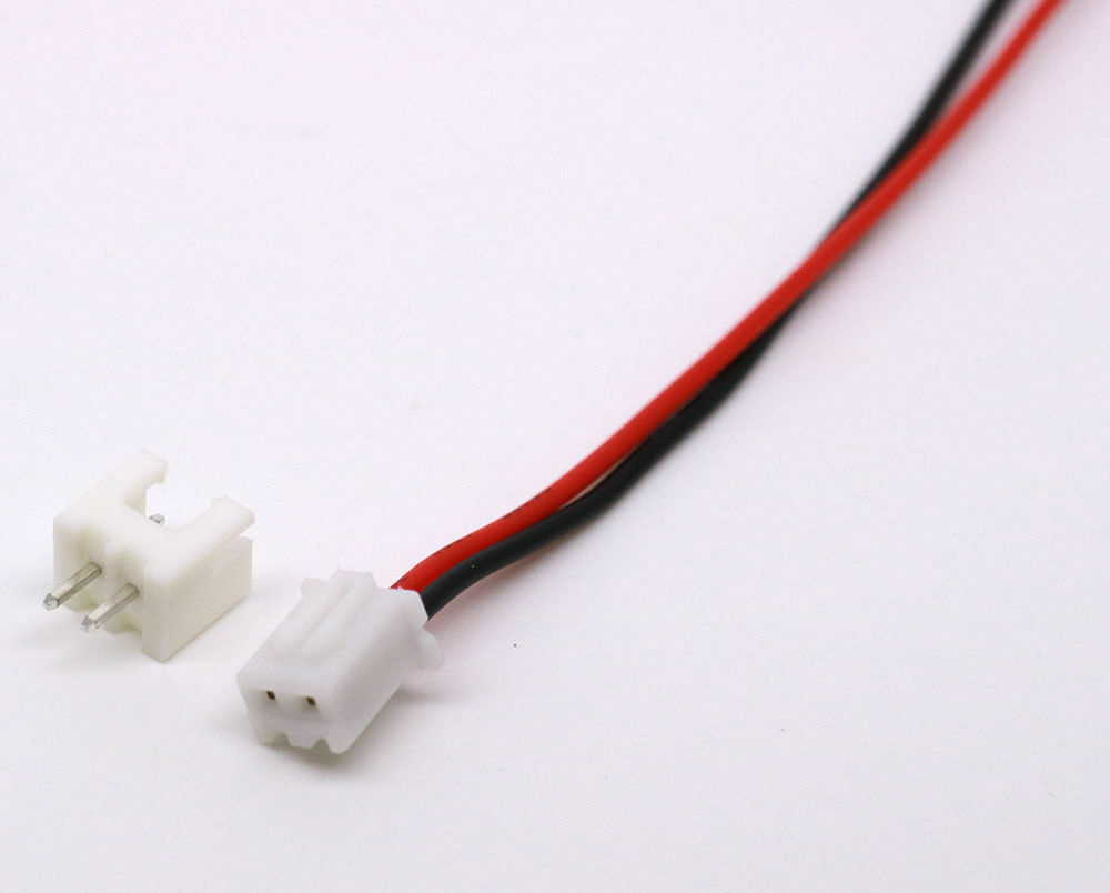 50 SETs Micro JST 2.54mm 2-Pin Male and Female Connector Plug with Wire