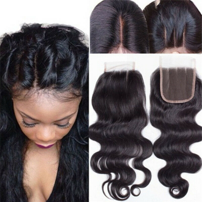 Wave Closure Hair Brazilian Lace Closure Middle Free Part