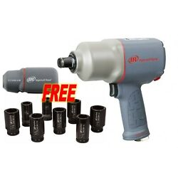 Ingersoll Rand 2145QiMAX Quiet 3/4'' Impact Wrench w/ FREE Boot & Socket Set