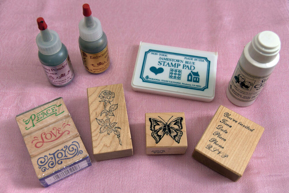 Details About PSX Lot Of 3 Stamps Ink Pad Embossing Powder Stamp Cleaner