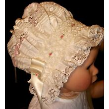 NEW Smocked Baby's Bonnet - Jean Marie _ From Premie to 18 mths