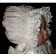 NEW Smocked Baby's Bonnet - Merrill _ From Premie to 18 mths