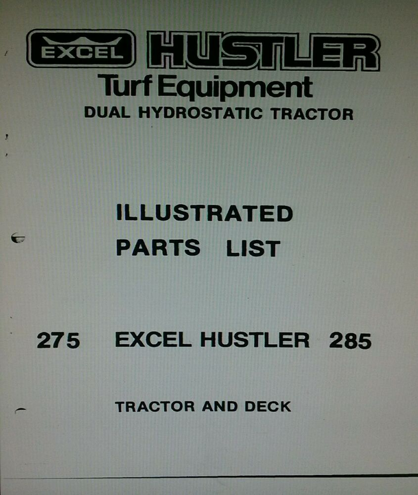 Excel hustler 275 mower manual