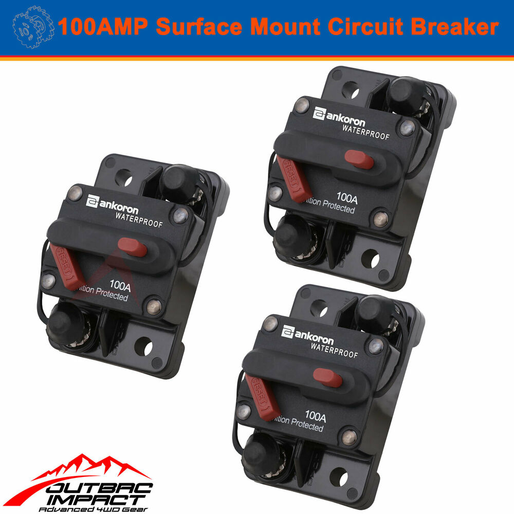 100a 12v Circuit Breaker Replace Car Fuse 100 Amp Car Automotive