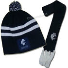 AFL Carlton Blues Baby Beanie Hat and Scarf Set