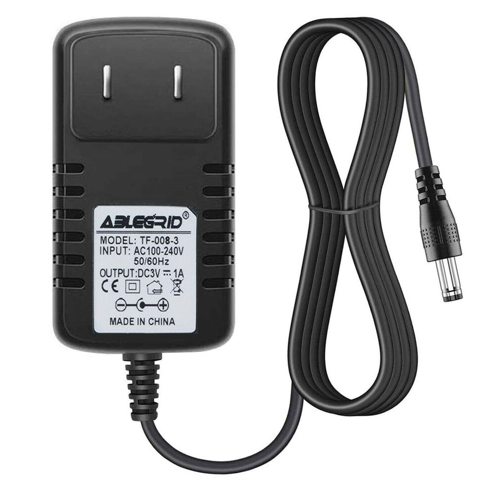 Details About 3v 3 Volt 1a 1000ma Ac Adapter To Dc Supply Charger Cord 5 2 1mm Plug