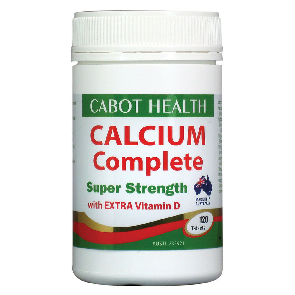 1 X 120 Tablets Cabot Health Calcium Complete Super Strength Extra Wellness Citrate Tablet Vitamin D 9326664000530 Ebay