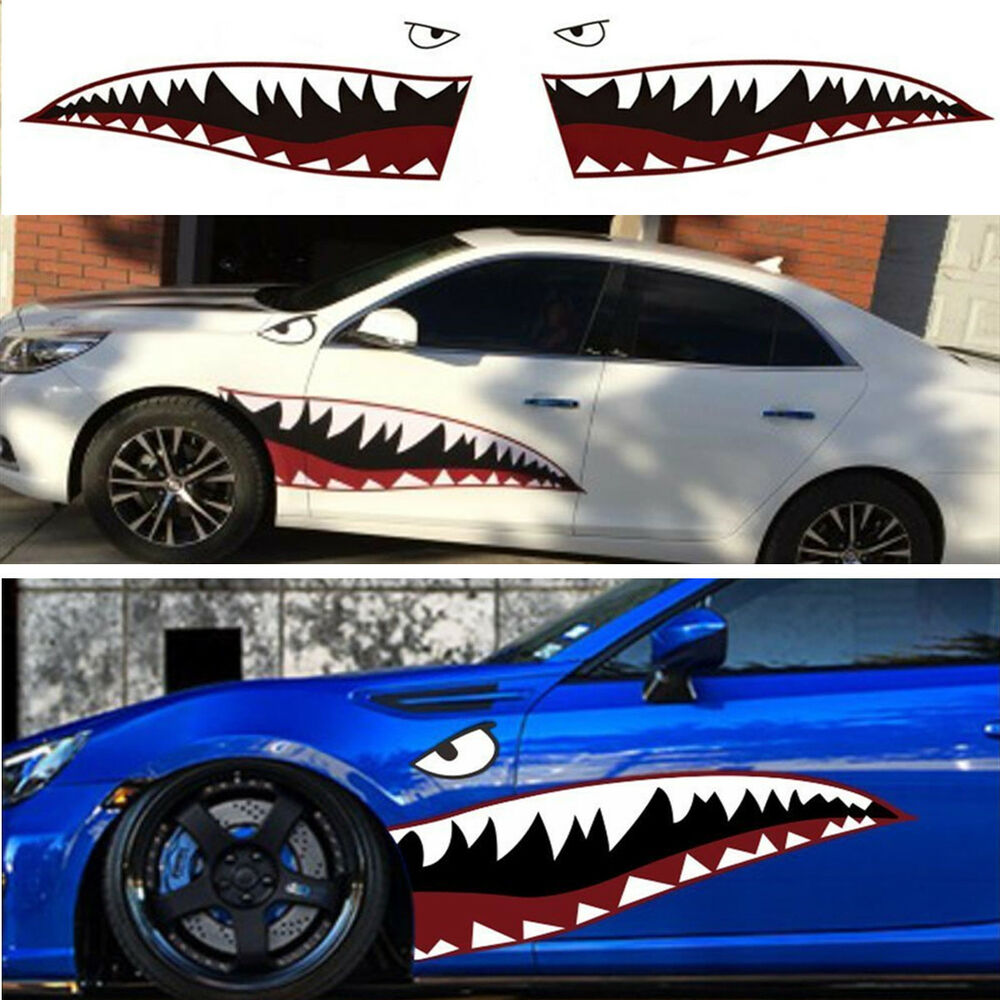 59 Full Size Shark Mouth Tooth Teeth Sticker Vinyl Car