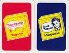 Vintage Swap/Playing Cards - 2 SINGLE - MARGARINE ADVERTS WITH LADY