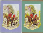 Vintage Swap/Playing Cards - 2 SINGLE- HORSE & HOUNDS, FRAMED