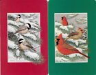 Vintage Swap/Playing Cards - 2 SINGLE- BIRDS IN SNOW