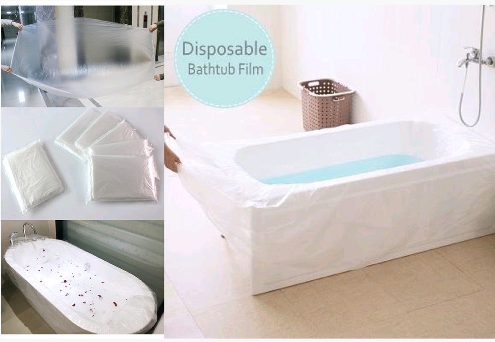 Disposable Bathtub Liner Bag Cover Film For Travel Spa