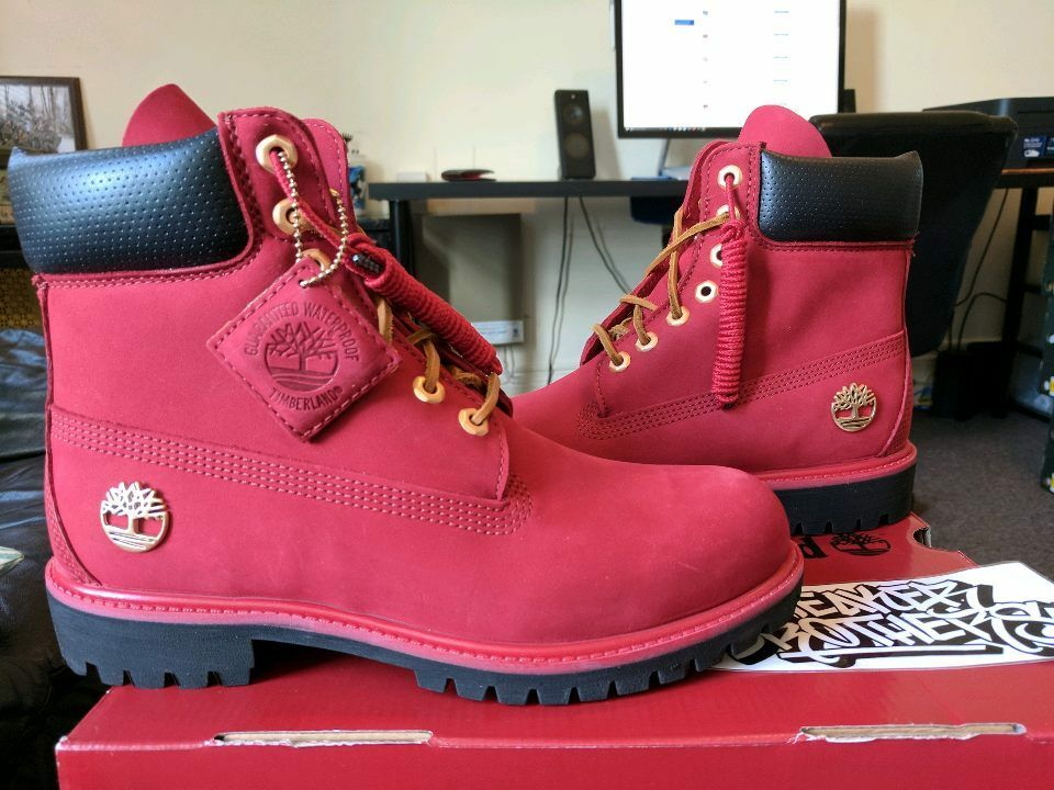 "Timberland 6 Inch 6"" Boots Premium PRM Waterproof Ruby Red ..."